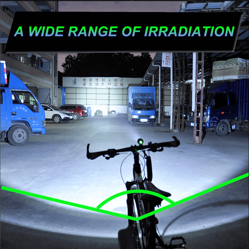 1200LM Zoomable Bicycle Lights Rechargeable Led Bike Lights