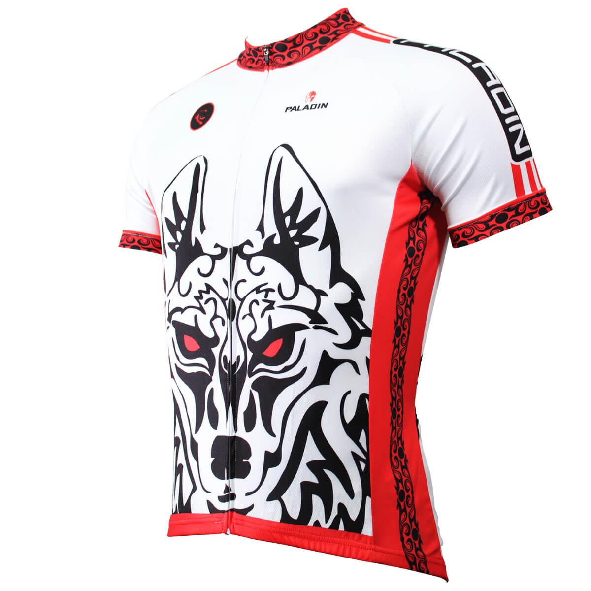 new concept 0ef06 ab389 Cool 3D Wolf Warriors Cycling Jersey short sleeve men bike ...