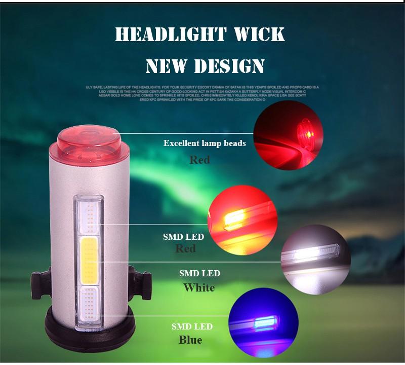 Best Safety Lights For Bicycle USB Charging LED Tube Bike Light