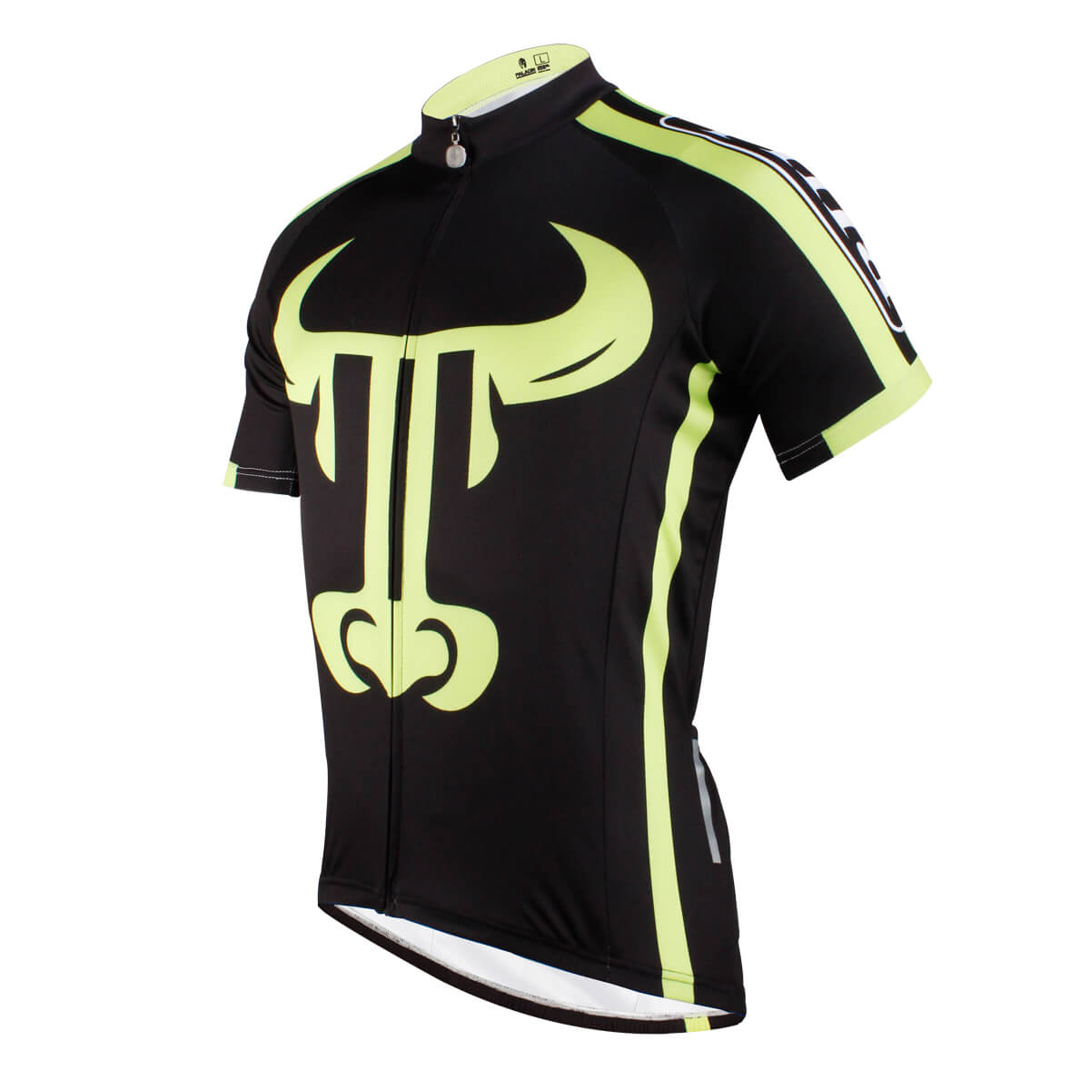 Bull Printed 100% Polyester Cycling Jersey For Man