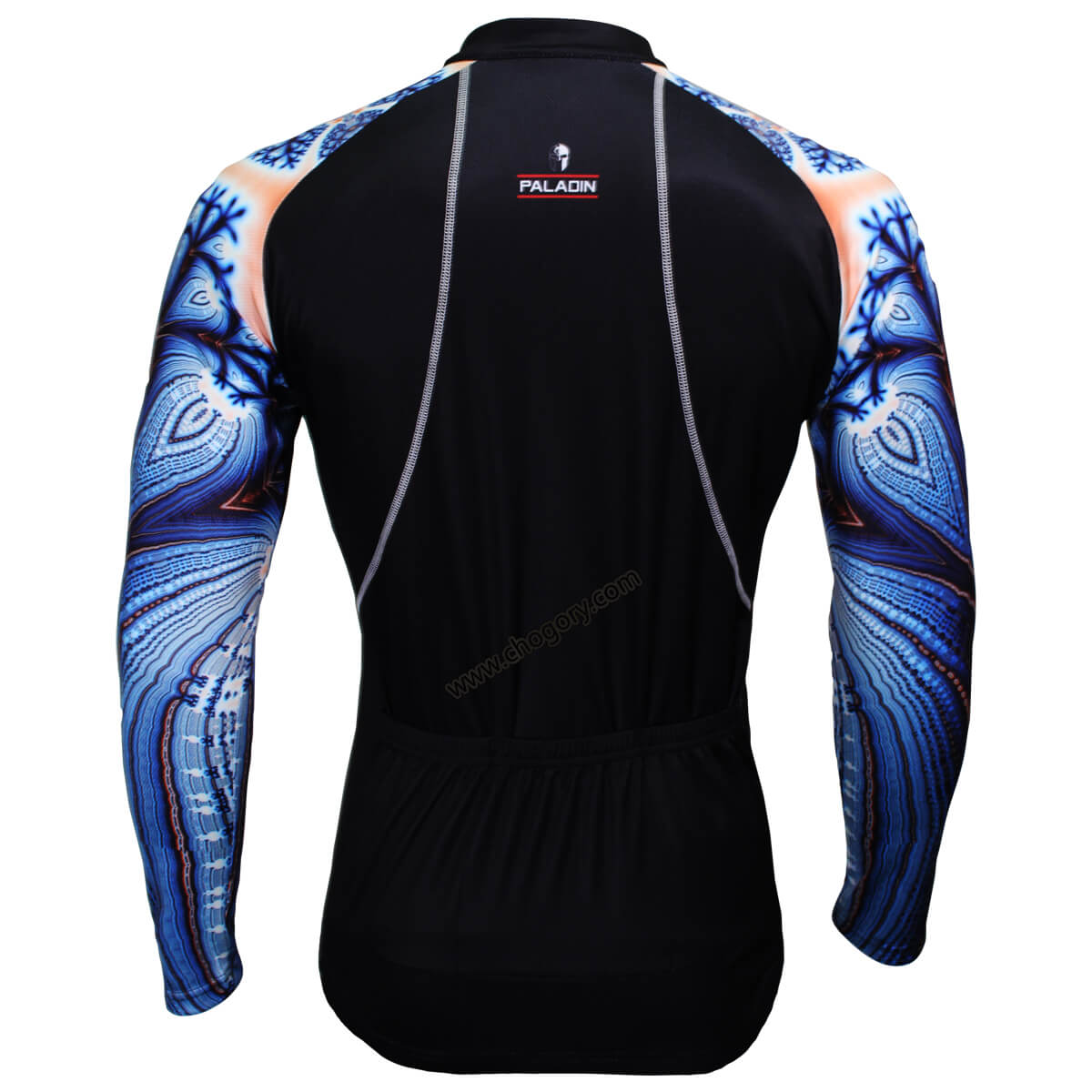 Cool Blue Parrot Sleeves Long Sleeve Cycling Jerseys For