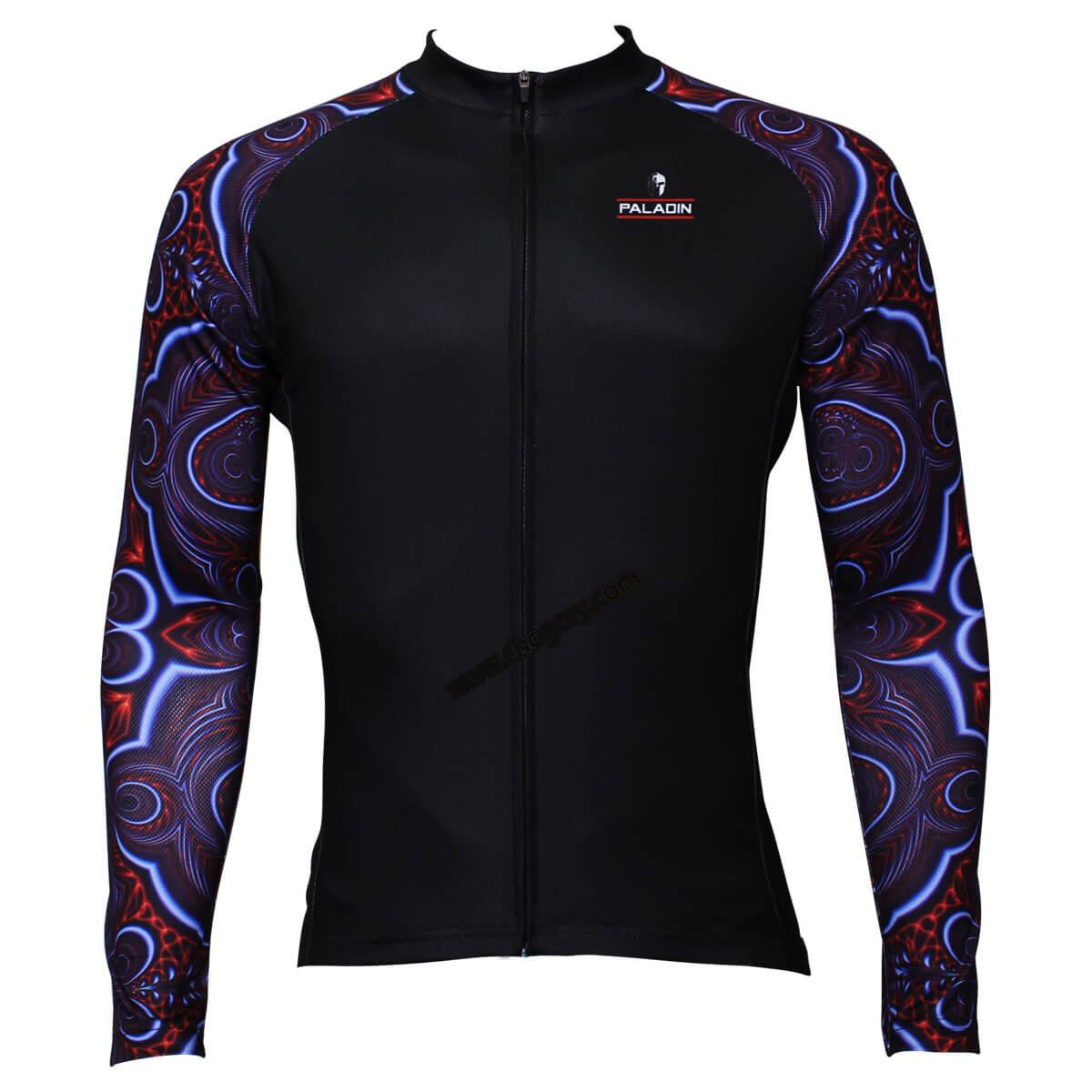 Kaleidoscope Sleeves Design Long Sleeve Bike Jerseys Chogory
