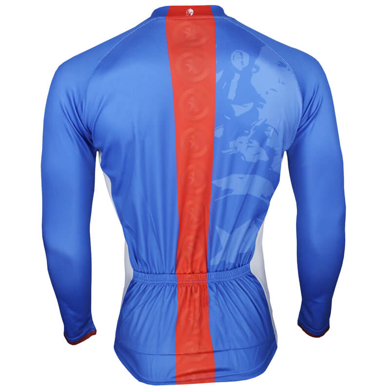 402a46510 ... Long Sleeve Captain America Mens Cycling Jerseys ...