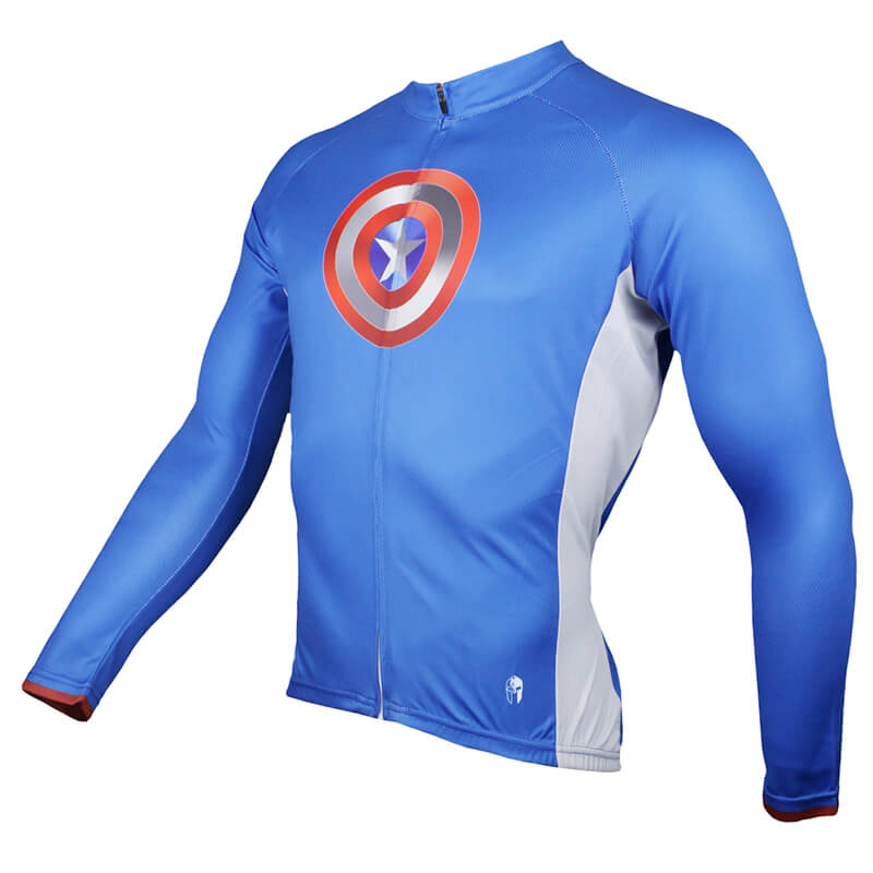 d38fb00b8 ... Long Sleeve Captain America Mens Cycling Jerseys