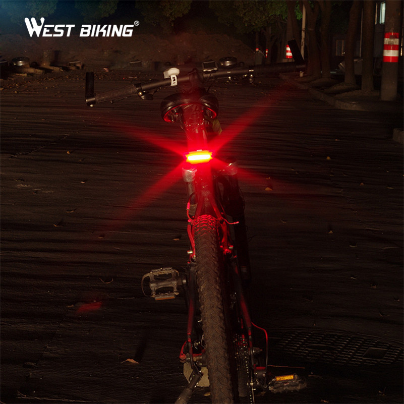 Bike Tail Warning light USB Rechargeable MTB Road Cycling Bicycle Light