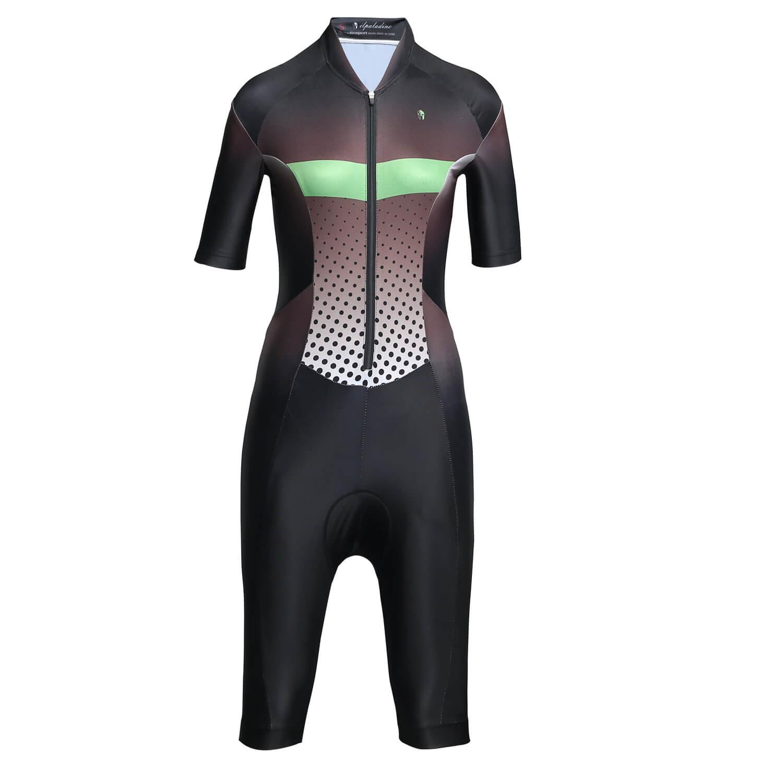 Black Cycling jumpsuit Womens Bike Jersey