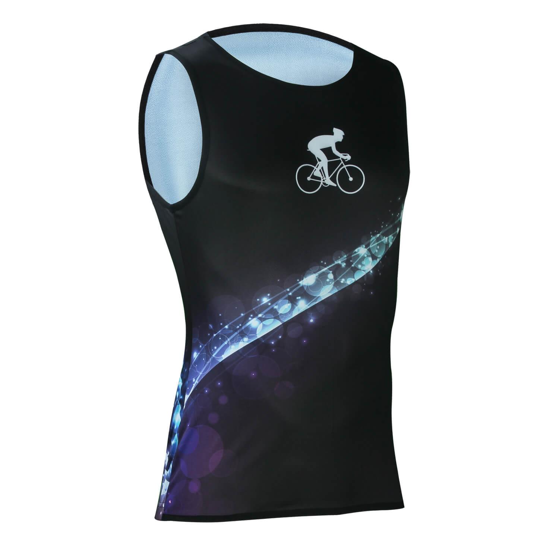 Cool Sleeveless Black Cycling Jerseys Mens Bicycle Tshirt