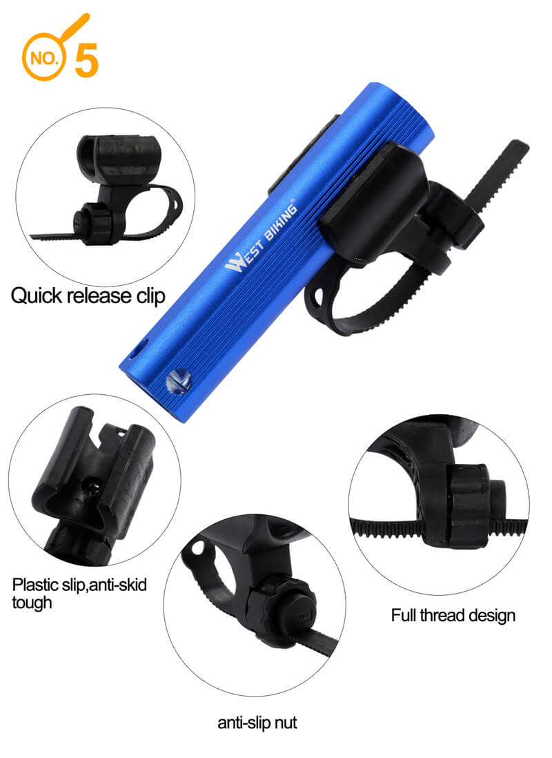 Cree-XP Bicycle Lights Waterproof USB Rechargeable Bike Light Flashlight