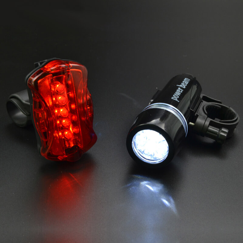 Cycling Light Bike Head Flash Front Light Rear Flashlight Warning Cycling Bicycle 5 LED Lamp Light Bicycle Light