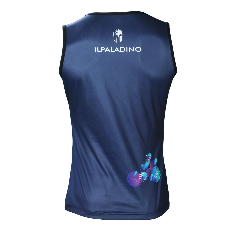 Mens Sleeveless Cycling Tshirt Sale Cool Blue Bike Jerseys