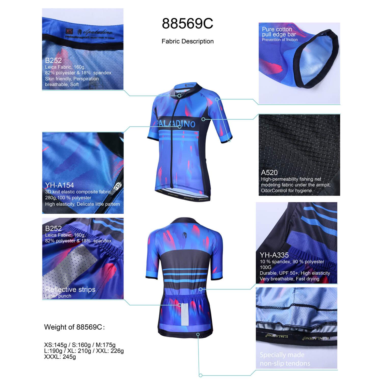 Quality Blue Bike Jersy Womens Cycling Jerseys