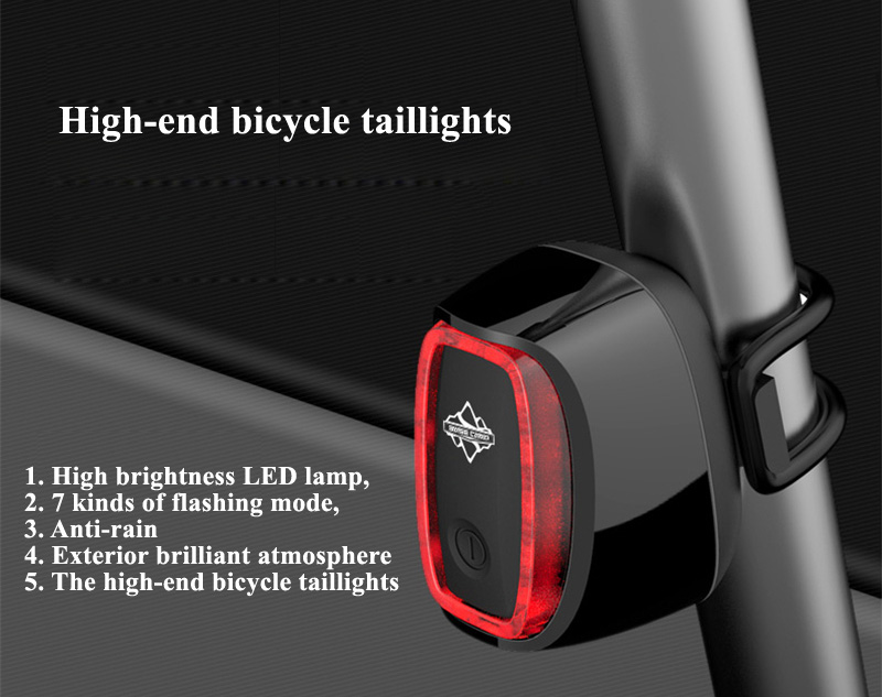 Rechargeable 7 models Bike Tail Light Smart USB Waterproof Bicycle Safety Lights