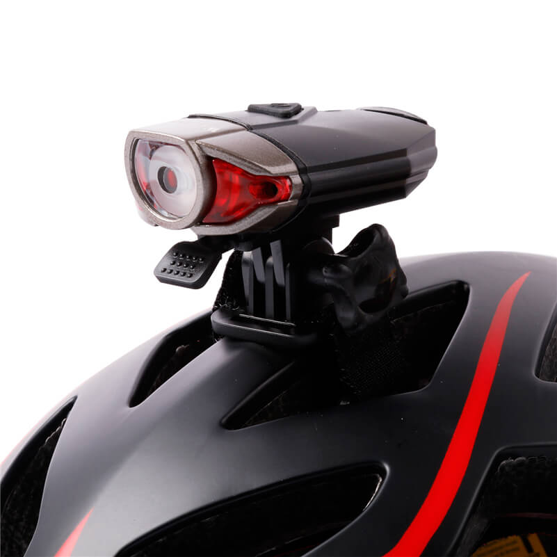 Rechargeable Waterproof IP45 Bicycle Handlebar Light CREE Led Front Bike Helmet Light