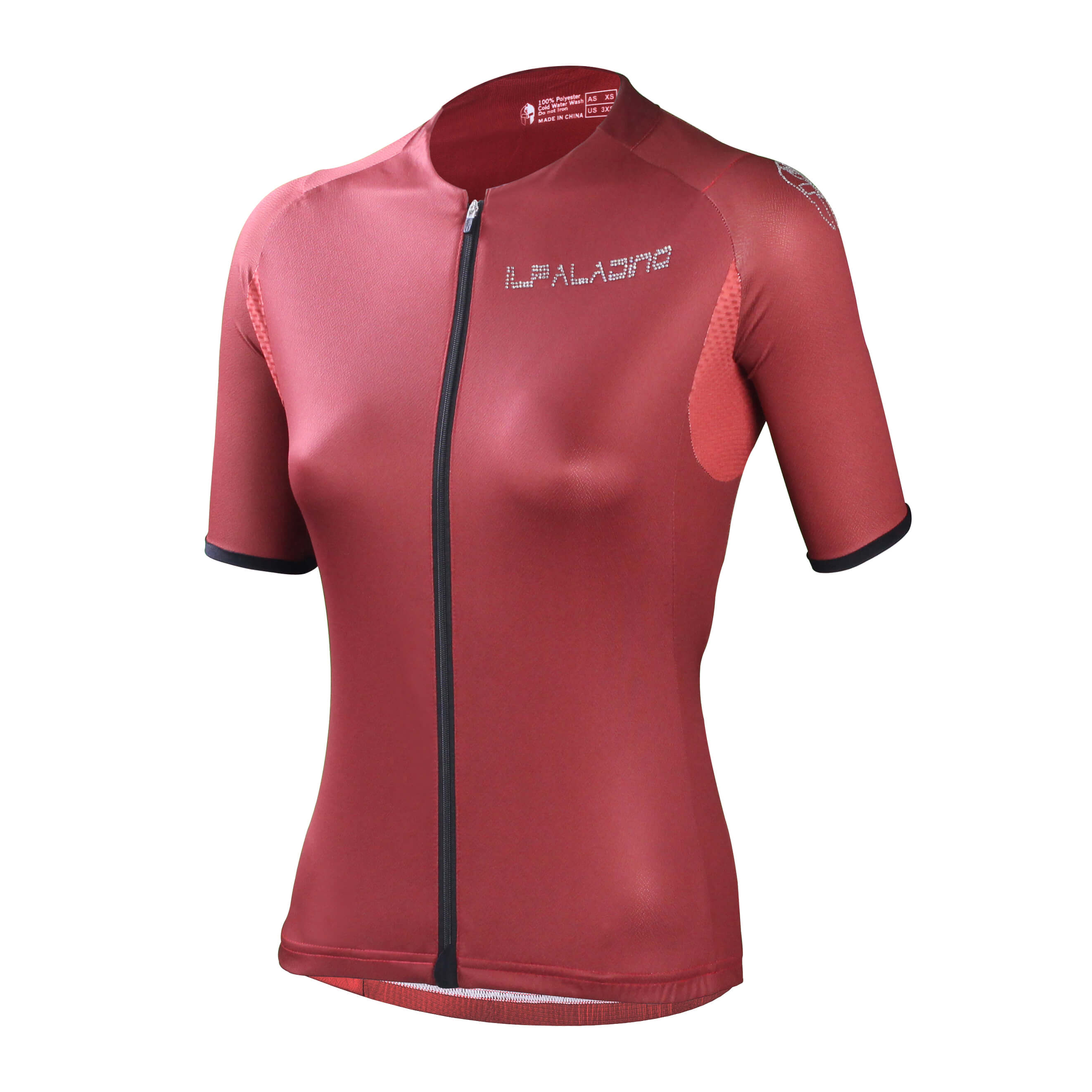 Red Cycling Shirt 3xl Zipper Womens Bike Jersey