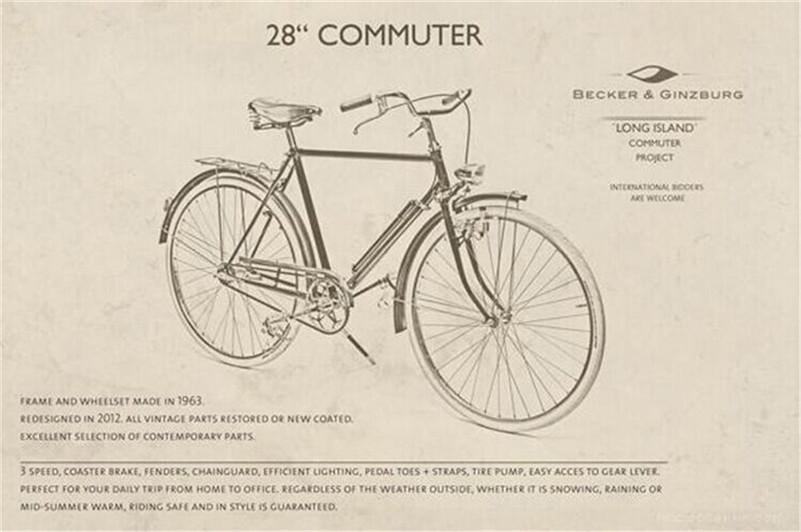 Retro Vintage Cree LED Bisiklet Cycling Bike Light