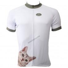 Lovely Cat Desigh Full Zipper Cycling Jerseys