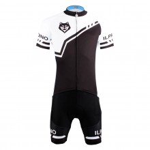 Mens Wolf Head Cycling Suits With Jersey and Padded Shorts