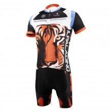 3D Tiger Short Sleeve Mens Cycling Suits