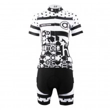 Black Dot Design Cycling Suits for Girls
