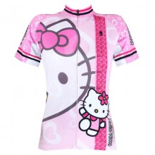 Lovely Pink Hello Kitty Cycling Jerseys For Girls