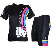 Black Hello Kitty Cycling Suits for Girls