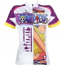 One Piece Nico Robin Short Sleeve Cycling Jerseys For Girls