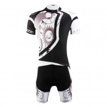 Cool Mechanical Gears bike Suits For Men's With Jersey and Bib Padded Cycling Shorts