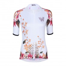 Beautiful butterflies and flowers Cycling Jersey Bike Shirts Womens