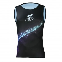 Cool Sleeveless Black Cycling Jerseys Mens Bicycle Tshirt