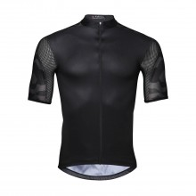 Quality Mens Bike Jersey Black Zipper Cycling Jersey