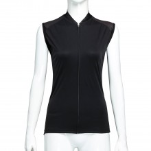 Quality Sleeveless Bicycle Shirts Black Cycling Vest for Women