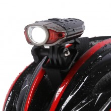 Rechargeable Waterproof IP45 Bicycle Handlebar Light CREE Led Front Bike Helmet Light