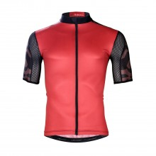Red YYK zipper Mens Bicycle Clothing Road Cycling Jersey