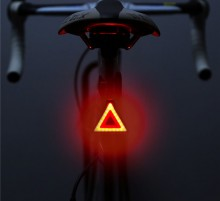 Waterproof USB Rechargeable LED Safe Warning Bike light