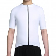 White Mens Jersey Full Zipper Bike Jersey