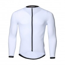 White Mens Long Sleeve Cycling Jersey Sale Mountain Bike Jersey