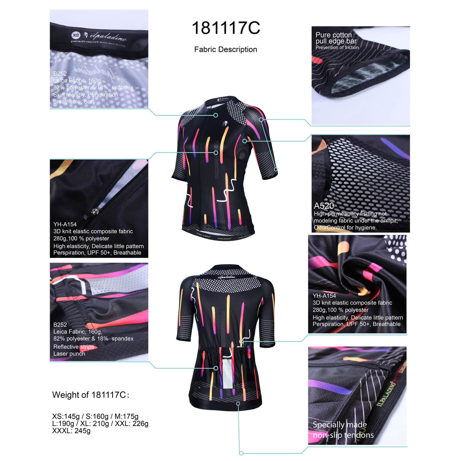 Unique Black Bicycle Jerseys Womens Cycling Clothing