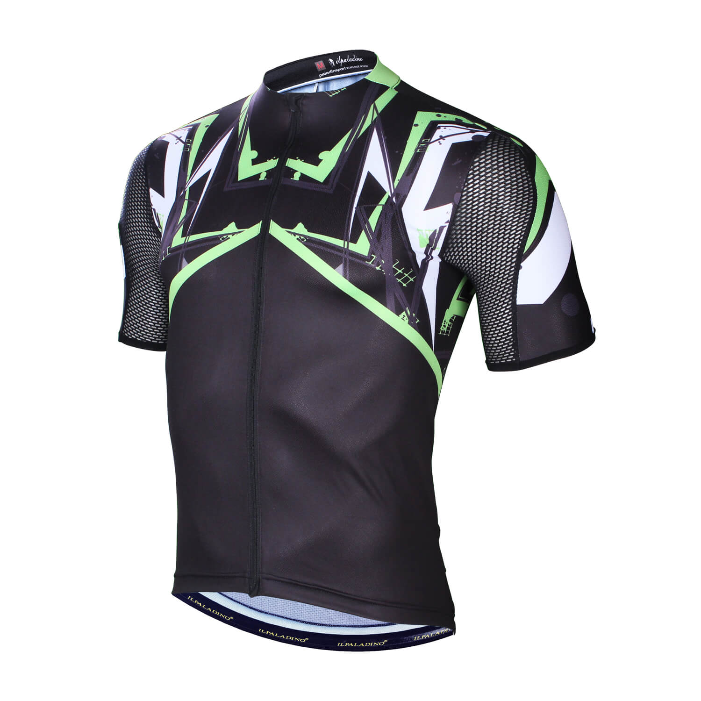 Unique Black Cycling Shirts Mens Bicycle Jerseys