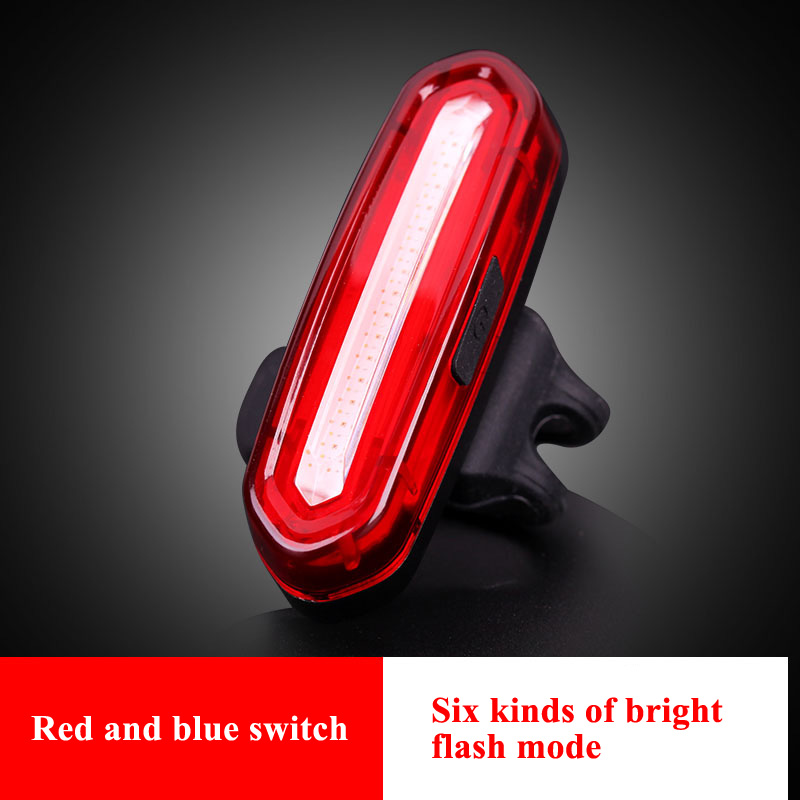 USB Rechargeable Bike Tail Lights Light LED Bicycle Warning Taillight