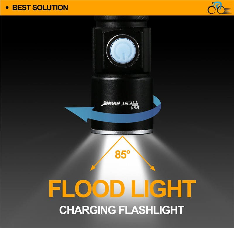 USB Rechargeable Cycling Front Flashlight Bicycle Bike Light
