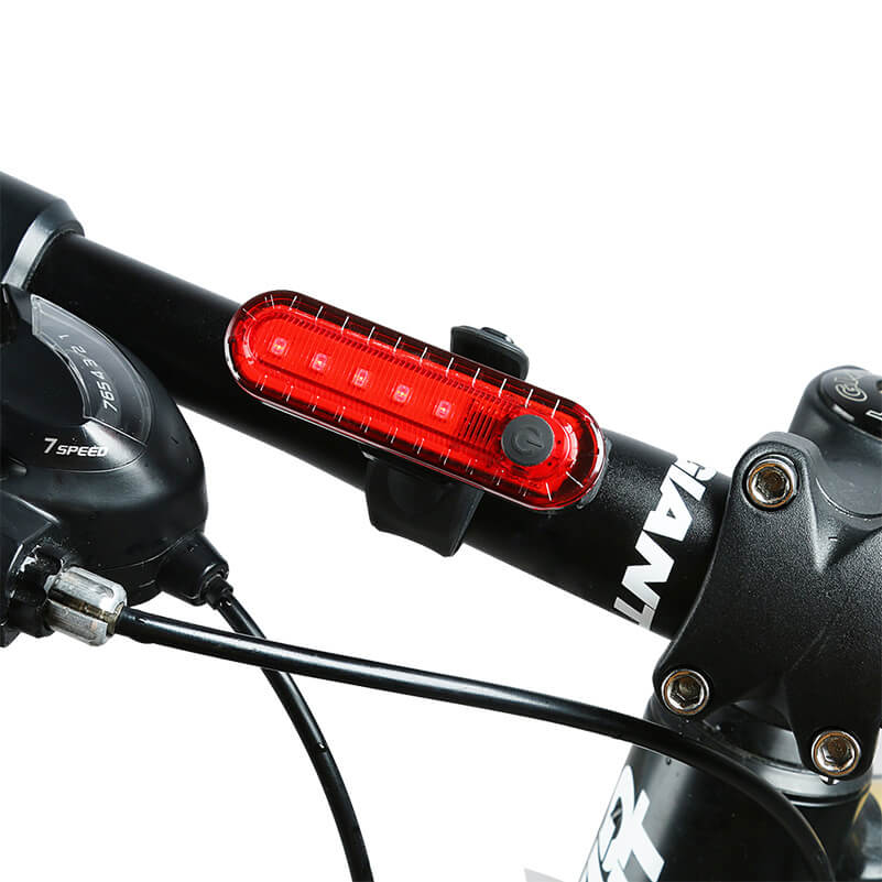 Waterproof Cycling Tail light Led USB Rechargeable Safety Warning Bike Light