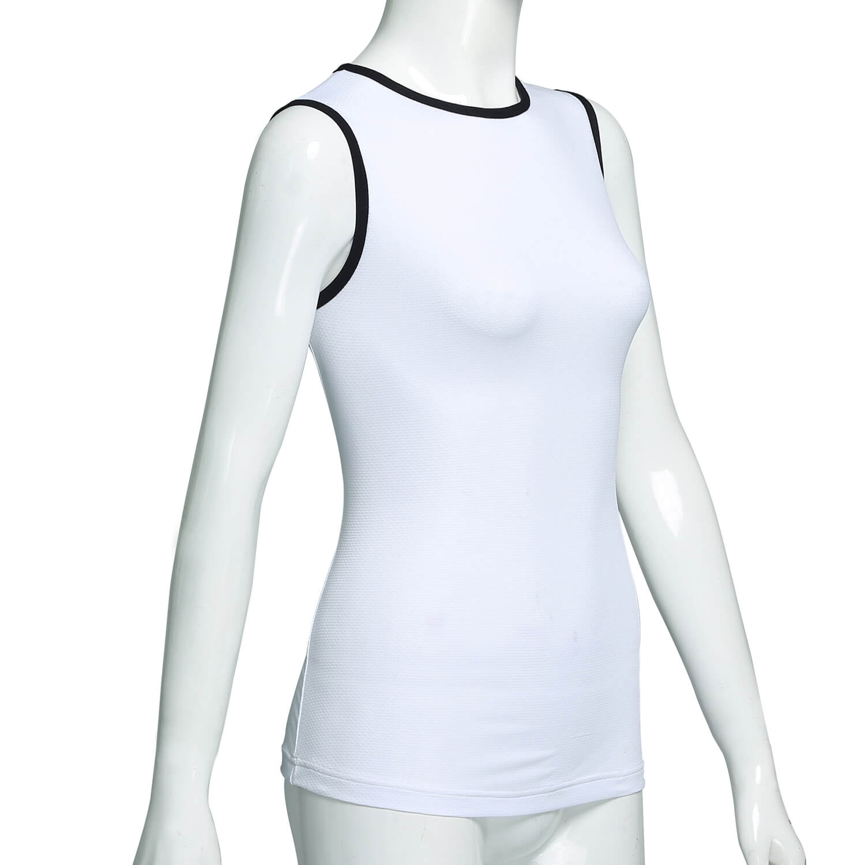 White Sleeveless base layer Cycling Tshirt Womens Cycling Clothing